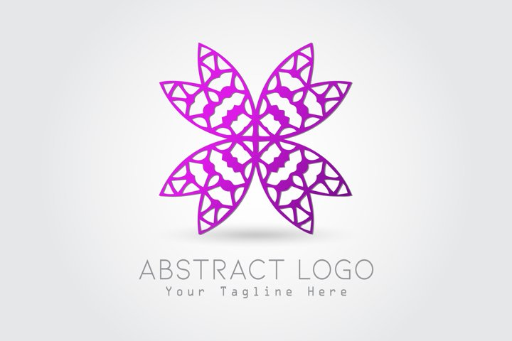Logo Abstract Butterfly Purple Color