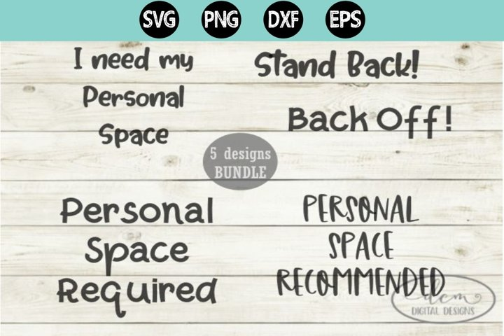 Social Distancing Quarantine Bundle SVG PNG DXF EPS