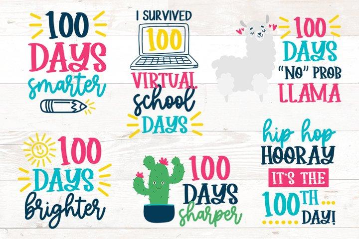 Download 100 Days Of School Bundle Svg Virtual School 1103273 Cut Files Design Bundles