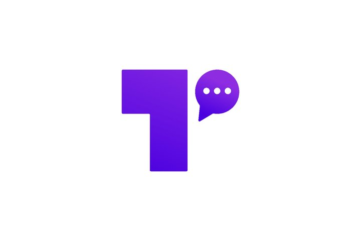 Letter T Chat Bubble Logo Template Vector Design