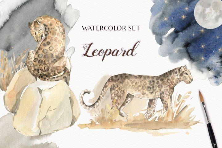 Leopard Watercolor Set
