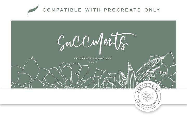 20 Procreate Succulent Stamps
