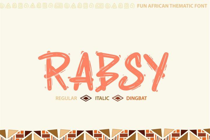 Rabsy African pattern font