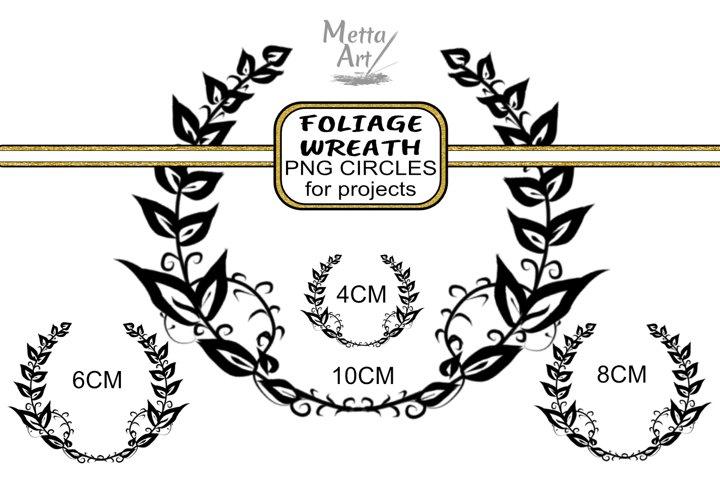 Foliage Wreath - Circular - 4 images sizes