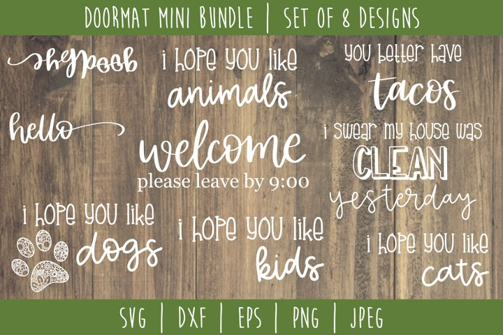 Doormat Bundle Set of 8 - SVG