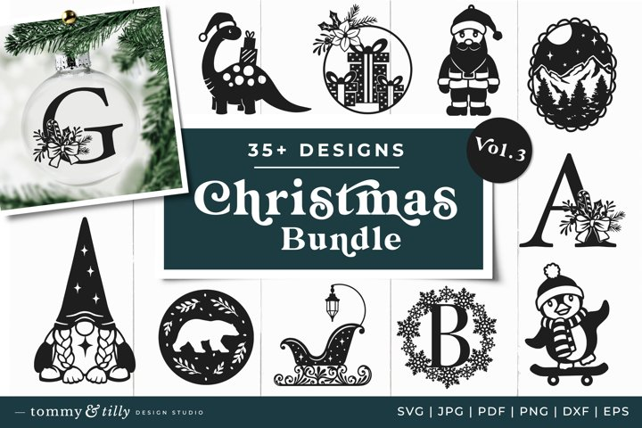 Vol.3 Christmas Bundle SVG Bundle Cut Files