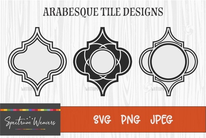 Arabesque tile designs