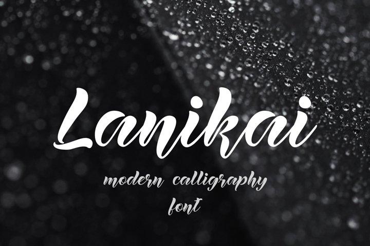 Lanikai - calligraphy script font