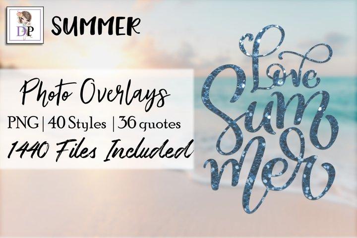 Summer v2 Bundle Photo Overlays Social Media Canva Photo