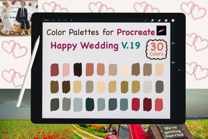 Color Palettes set for Procreate - Happy Wedding V.19