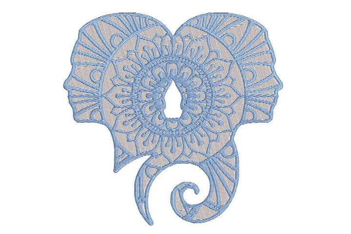 Zodiac Sign Gemini Embroidery Design. Embroidery Design