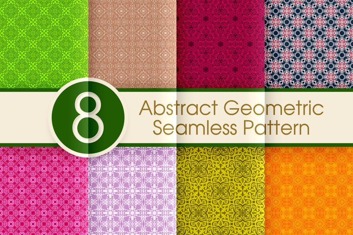 Abstract Geometric Seamless Pattern Collection 004