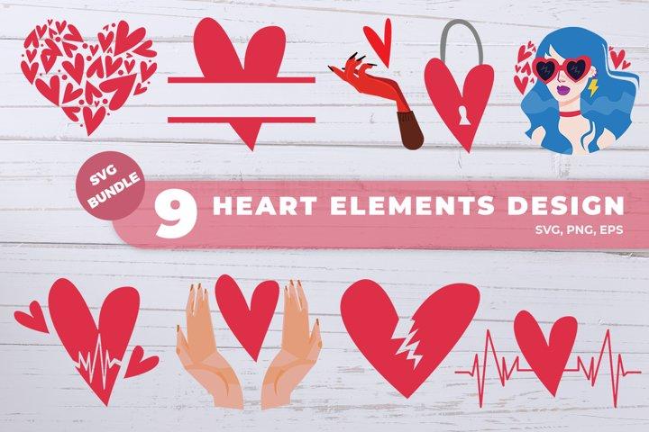 Heart Bundle SVG