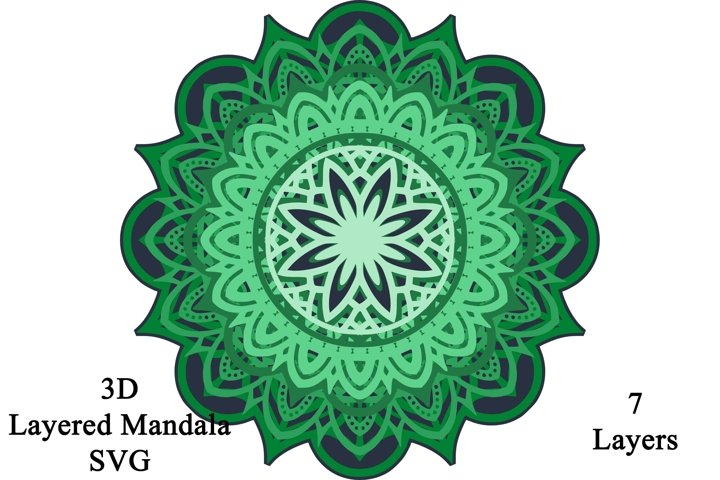 3D Layered Mandala SVG and PNG