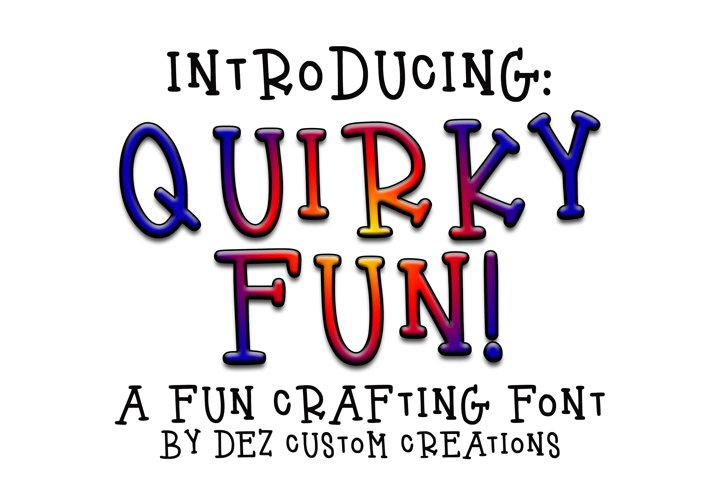 Quirky Fun - Hand Lettered Serif Font