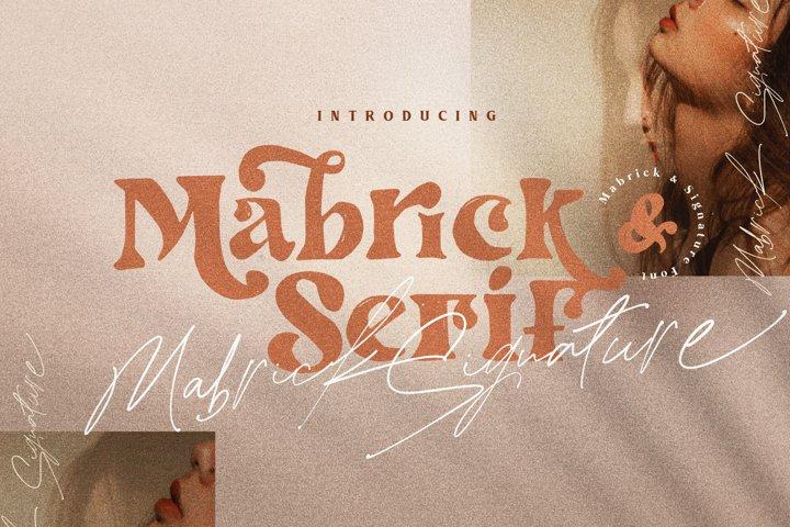 Mabrick Serif - Signature Font Duo