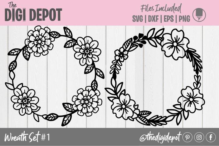 Wreath SVG, Hand Drawn Wreath SVG, Cut File