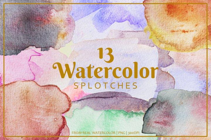 Colorful Watercolor Splotches