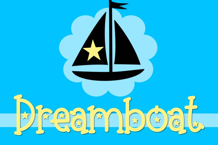 Dreamboat - A Bright Font with Stars