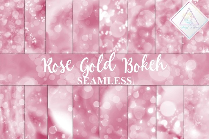 Seamless Rose Gold Bokeh Digital Paper