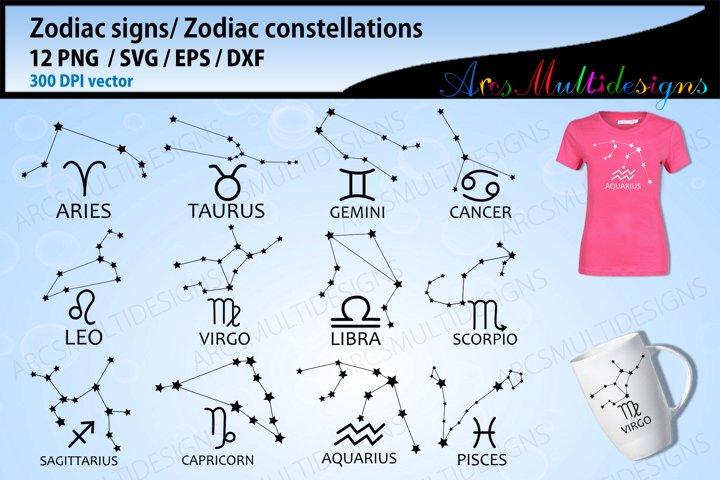 Zodiac signs svg / zodiac constellations svg