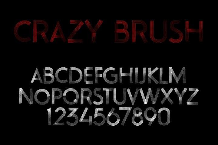 Crazy Brush Neue Font