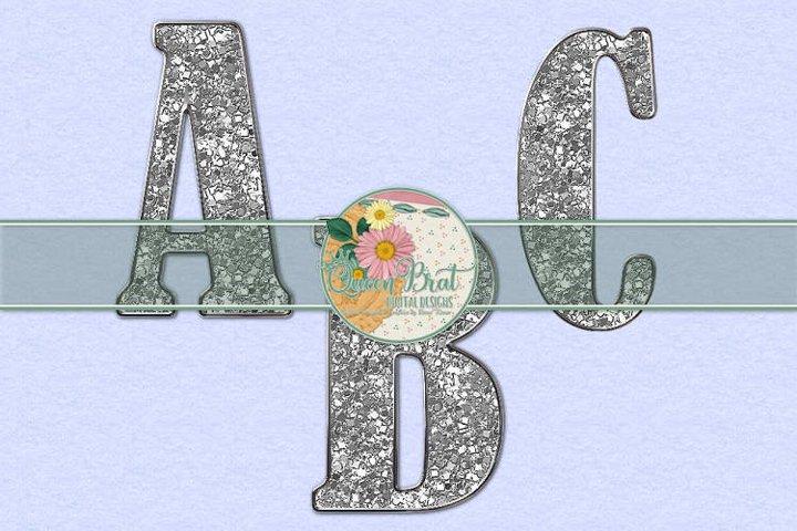 Freedom Alphabet Silver Glitter