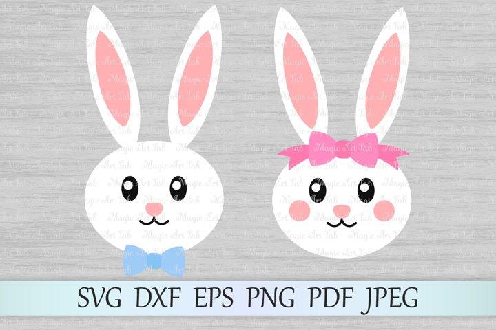 Easter bunny svg, Bunny face svg, Easter svg, Bunny girl svg