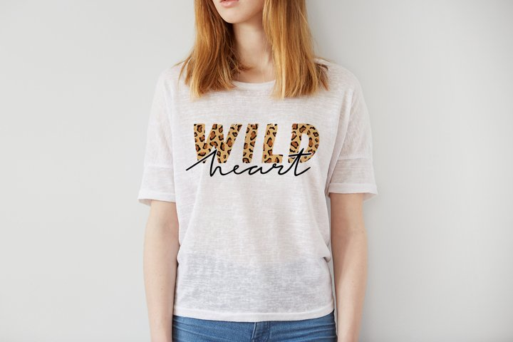 Wild Heart with animal print, Sublimation - PNG, JPEG, EPS