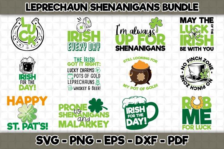 St. Patricks Day SVG Bundle - 12 Designs Included - SVG