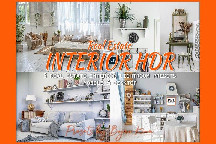 5 REAL ESTATE Presets for Interior, Hdr Lightroom Presets