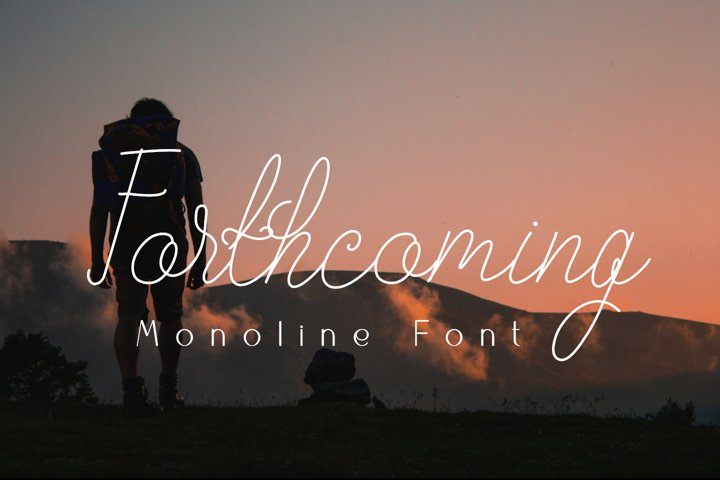 Forthcoming monoline font