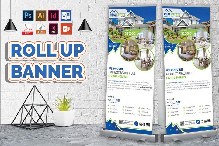 Real Estate Roll Up Banner Vol-02