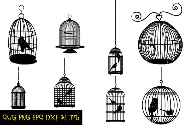 Bird Cage SVG, Bundle prints, Digital SVG file, PNG, EPS
