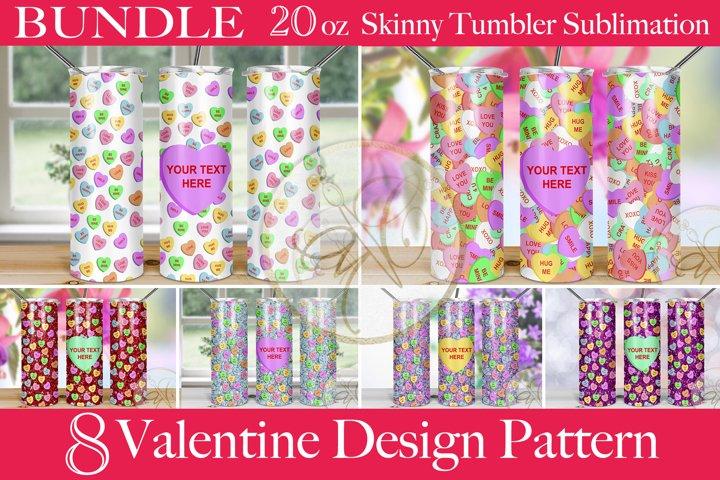 BUNDLE Valentines Day Skinny Tumbler Sublimation