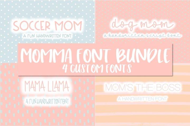 Momma Font Bundle | 4 Custom Fonts