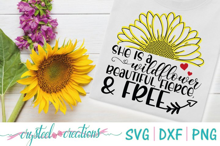 She is a Wildflower SVG, DXF, PNG