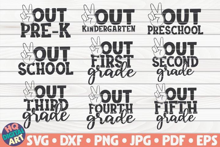 End of school SVG Bundle | 9 designs