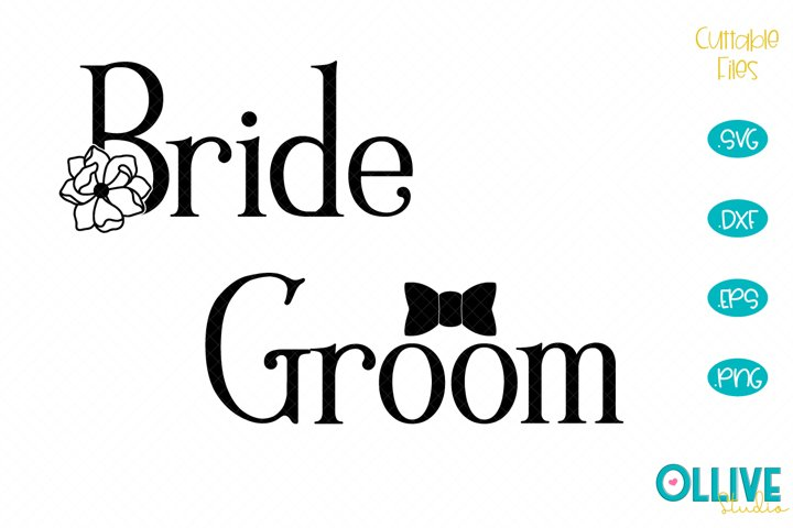 Wedding Bride & Groom SVG Designs