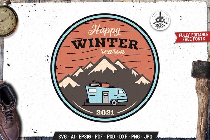 Road Trip SVG Retro Logo Outdoor Adventure Label DXF PNG