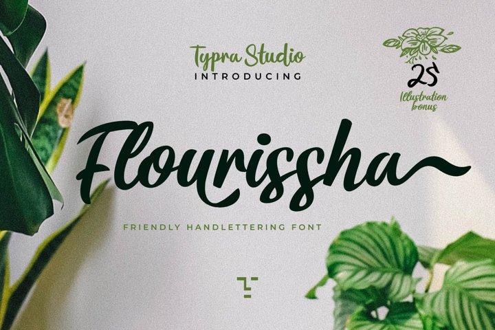 Flourissha Hand lettering Font