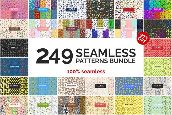 249 Seamless Patterns Bundle