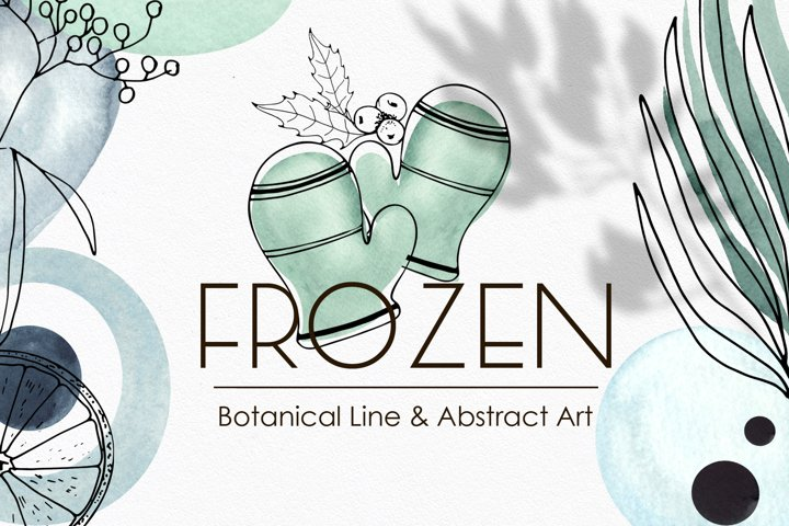 Winter Botanical Line Abstract Art
