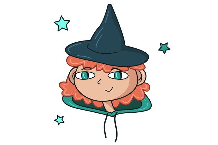 Cute Halloween witch portrait