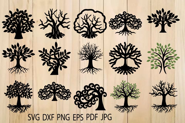 Tree of Life SVG, Trees, Tree Cut File, Tree SVG For Cutting - Free Design of The Week Design0