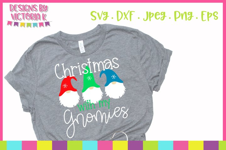 Christmas with my gnomies, SVG, DXF