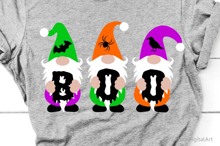 Halloween Gnomes Svg, Boo Svg, Kids Halloween Trick or Treat