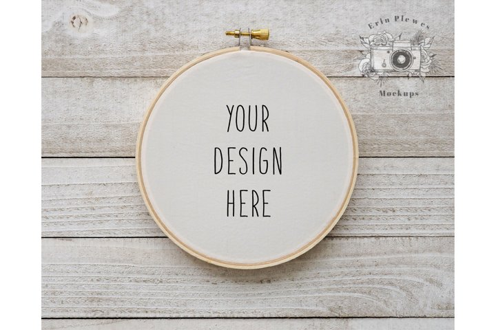 Cross Stitch Mockup  Embroidery Hoop Mock Up  Sewing Mock-up