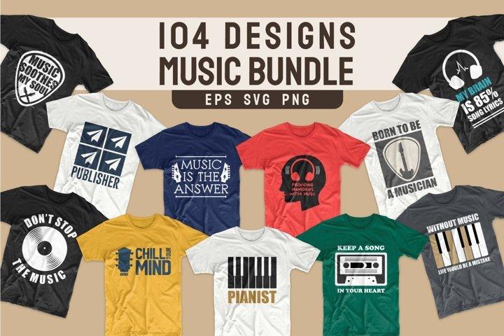 T-shirt Designs Bundle SVG Quotes Music bundles SVG PNG EPS