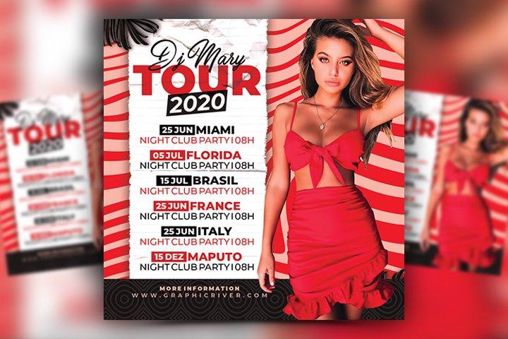 Artist Tour Flyer